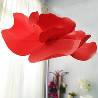 Wholesale led shop display for sale - Group buy PE foam Giant Artificial Poppies Flower Head Shop Window Display Flower Wedding Road Lead Party Stage Decoration flowers