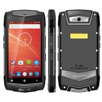 robustes smartphone zoll großhandel-UNIWA V1H 5,0 Zoll 4G LTE-Handy wasserdichtes Android-robustes Smartphone im Freien Doppel-SIM 2G 16GB Viererkabel Android 5.1-Mobiltelefon