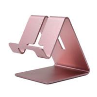 metallstandplatz für iphone ipad großhandel-Universal aluminium metall handy tabletten pc ipad schreibtisch stehen halter blau halterungen für ipad iphone samsung