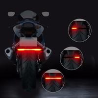 led-motorrad-blinker großhandel-Flexible 48 LED 2835 3014 smd Dual Farbe Gelb Rot Licht Motorrad Streifen Blinker Heckbremse Stopp Wasserdichte Lampe Lampe