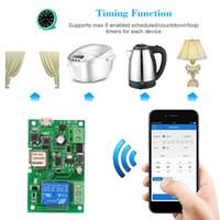 автоматизация освещения оптовых-Sonoff Smart Wifi Switch Controller Электрический Выключатель Света Беспроводной Пульт Дистанционного Управления Модули Домашней Автоматизации Android / iOS ПРИЛОЖЕНИЕ для Alexa