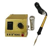 demir termostatı toptan satış-DKT-936I Mini lehim istasyonu Ayarlanabilir termostat Havya lehimleme istasyonu Kaynak onarım SMD SMT DIP Cep