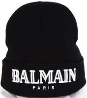 erkekler siyah beanie toptan satış-Moda Aksesuarları erkek kadın şapka Beanie Kafatası Kapaklar Sıcak Satış mektuplar şapka siyah renk kap CP-1