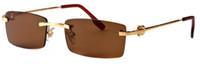 metall beine box großhandel-Randlose halbrahmen gold silber metall beine legierung mode buffalo gläser für männer frauen sonnenbrille mit original box klaren gläsern