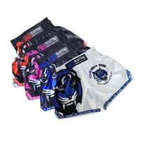 Wholesale muay thai shorts free shipping for sale - Group buy Muay Thai Boxing Trunks New Men s Fitness Breathable Workout Gym Sport MMA Shorts Sanda Training Boxeo Shorts