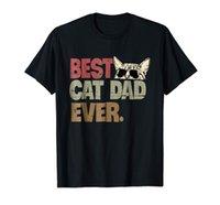 baba tişört toptan satış-En iyi Kedi Baba Hiç T-Shirt Kedi Baba denim giyim camiseta cattt rüzgarlık Pug tişört Trump ter sporter t-shirt