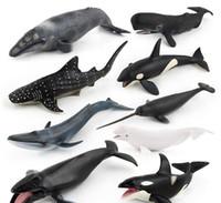 ingrosso miglior sonaglio del bambino-Giocattoli Simulazione di modelli di animali marini Entità Simulazione di unicorno di balena Diversi modelli di balene vengono venduti uno a uno