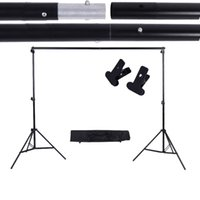 Wholesale backdrop clamps photography for sale - Group buy ackdrop crossbar Oversea Stock m ft Backdrop Crossbar Kit with Adjustable Background Support Stand Clamps Photography Acc