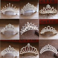 Wholesale metallic comb for sale - Group buy New children s crown jewelry studio wedding rhinestone hair comb tiara performance pearl crown decoration welcome order