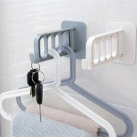 Wholesale kitchen towel hooks wall for sale - Group buy Multifunctional Folding Draining Rack kitchen sink shelf Sponge Towel rack Wall hook Self adhes bathroom Storage