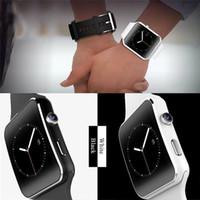 regarder x6 achat en gros de-2019 X6 montre intelligente avec la musique de l'appareil photo en jouant le soutien carte SIM TF pour IOS Android téléphone montre noir blanc montre intelligente hommes