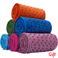 deslizamento de toalha de ioga venda por atacado-Yoga Toalha Sports Blanket Toalha Yoga Mat microfibra não escorregar SP003