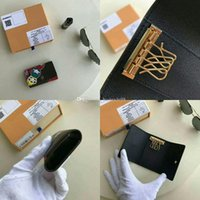 Wholesale small card boxes resale online - 2017 Key Pouch Damier Canvas Card Holds Women Key Holder Coin Purse Genuine Leather Jeske Ale Card Holders Wallet Cx With Box M67247
