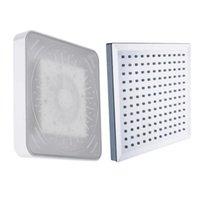 banyo duş aydınlatma toptan satış-7 Renk Duş Başlığı Otomatik Değişen Işık Su tasarrufu Renkli galvanik Banyo Arayüzü Için LED Duş Başlığı Meme