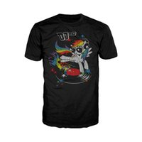 Wholesale my little pony online - My Little Pony DJ RD Official Adults Black T Shirt Friendship is Magic TV Show Men T Shirt Top Quality Cotton Hip Hop tees