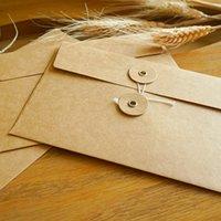 винтажные письма оптовых-Vintage Line Пряжка Информация Сумка Офис Школа Поставка Письмо Конверты Бумага наклейка для хранения бумаги Сумки на конвертах