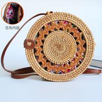 spezielles stroh großhandel-Spezialbehandlung! ! ! Vorzugspreis Straw Beach Bag Mini Handtaschen für Frauen S Rattan Geldbörsen Bali Bohemian Female