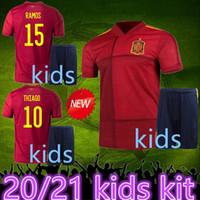 Wholesale spain soccer jersey kids resale online - top Spain kids kit soccer jersey españa kids RODRIGO PACO ALCACER MORATA RAMOS THIAGO football soccer Shirt camisetas de futbol
