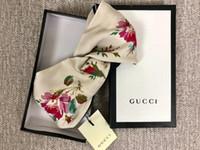 springt haare großhandel-Marke Silk Elastic Stirnband Bandanas Für Frauen 2019 Frühling Hot Floral design Stirnbänder haarbänder Für Frauen Mädchen Retro Turban Headwraps
