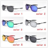 ingrosso ok occhiali da sole-Sport da equitazione polarizzati OK occhiali da sole da uomo e da donna telaio in metallo quadrati da guida occhiali da sole nuovi 4060 occhiali unisex di marca