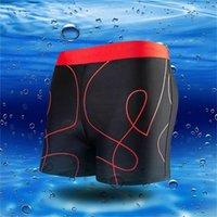 erwachsene badehose großhandel-newSwimming Trunks Men Print Kordelzug Schnell trocknend Kurze Hosen Beach Swimwear Adult Swim Shorts Badeanzug