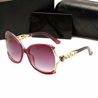 erkekler için geniş çerçeve güneş gözlüğü toptan satış-Trendy Lüks Güneş Büyük Çerçeve Kadınlar için elmas Güneş ve Erkekler UV400 Koruma Gözlük camları 4 Renkler Güneş şemsiyeleri