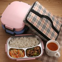Wholesale manufacturer bamboo for sale - Group buy Lunchbox Stainless Steel Thermos Thermal Lunch Box For Kids Adults Bento Box Leakproof Japanese Style Food Container SH190928