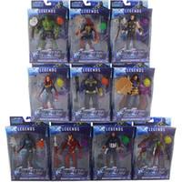 avengers bebek seti toptan satış-10pcs / led Superhero Batman Kaptan Amerika Eylem Şekil Koleksiyon Modeli Doll ile Marvel Oyuncak Avengers Şekil set