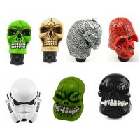 Wholesale skull knobs resale online - Gear Shift Knob Universal Car Manual Gear stick Shift Shifter Lever Knob Wicked Carved Skull refit Decoration Stick