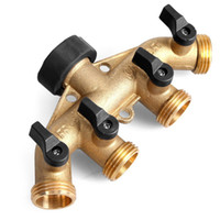 Wholesale garden valve for sale - Group buy Copper Way Ball Valves Water Distributor Garden Agricultural Irrigation Family Vehicle Cleaning Tap Current Divider