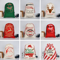 ingrosso moda per i bambini fumetto-Sacchetti regalo di Natale per bambini 31 colori Moda Grande borsa di tela pesante Candy Bag Creativo per bambini Borsa con coulisse TTA1556