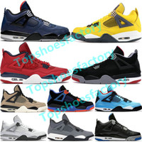 Top Jumpman 4 4s Men Basketball Shoes 2020 What The Black Cat Thunder Winterized Loyal Blue Designer Shoes Sport Sneakers Size 5.5-12.5