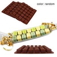 ingrosso muffa al cioccolato alfabeto-Silicone lettera alfabeto cioccolato stampo fai da te torta fondente alfabeto stampo caramelle biscotti strumenti di cottura biscotti alfabeto strumenti