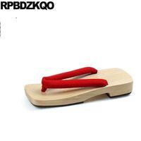 983962f93d sandálias japonesas geta venda por atacado-Nice Red Plana Geta Chinelos  Sandálias Slip On Water