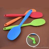 flexibler schaber groihandel-Flexible Hitzebeständige Integrieren Silikon Löffel Multifunktions-Scoop Schaber Spachtel Eistorte für Schaufel-Küche-Werkzeug-Handgriff