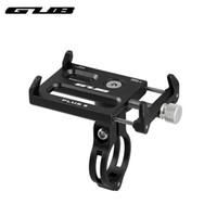 подставка для поворота телефона оптовых-GUB Plus 8 Алюминий 360 Вращающаяся подставка для телефона на велосипеде для 3,5-6,2-дюймового телефона-велосипеда Держатель руля GPS Навигационная скоба # 593097