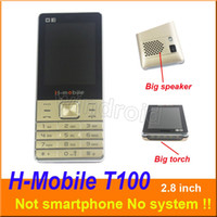 Wholesale band camera mp3 for sale - Group buy H Mobile T100 inch Cheapest Mobile Phone Dual Sim Quad Band G GSM Phone Unlocked with big Flashlight torch speaker whats app DHL