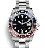 Wholesale reloj water resistant online - Black Ceramic Bezel AAA Luxury Brand Automatic Watch Stainless Steel Clasp Mens Fashion Master Watches Original Clasps Reloj Wristwatch