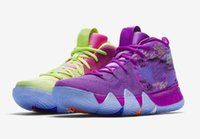 Wholesale kids basketball shoes for sale resale online - Kids Kyrie IV Confetti Basketball Shoes Equality BHM Halloween Cheap for Sale Irving Uncle Drew Sport Sneakers With Box US to US12