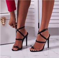 Wholesale high heels wedges bows for sale - Group buy Magical2019 Bring Crossing Concise Fine Women s Shoes Bow Set Toe High With Sandals Code