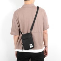 модные кошельки оптовых-Мужская мини-сумка через плечо Tote Hip Hop Fashion Mobile Phone Повседневная сумка через плечо Сумка для путешествий Кошелек Маленькая сумка