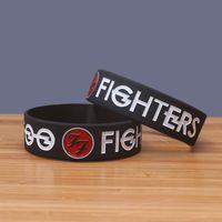 pulseiras de geléia venda por atacado-Foo Fighters Band Pulseiras Homens Mulheres Rock Hiphop Jelly Brilho Pulseiras Jóias Silicone