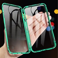 Wholesale iphone spy phone for sale – best Tongdaytech Tempered Glass Magnetic Privacy Metal Phone Case Coque Magnet Anti Spy Protective cover Iphone XR XS X Pro MAX Plus