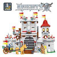 jouets chevaliers achat en gros de-AUSINI 27110 Knights castle series série de blocs de construction ensemble Enfants DIY Éducatif Créatif Modèle Briques Jouets pour enfants