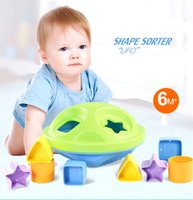 Wholesale baby tools set resale online - Various Shape Sorter Alphabet Number Geometry Learning Tools Toddler Babies Cognitive Toy Early Education Toys set LA322