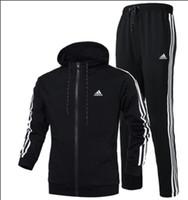 sweat mens hoodies xl zippé achat en gros de-Automne Survêtements Pour Hommes Marque Designer Manteaux Hauts Pantalons Costumes Logo Mode Cardigan Hommes Hoodies Sweats Zippés Vêtements Pour Hommes