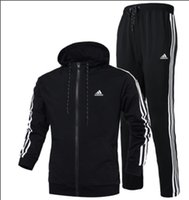 zip hoodies großhandel-Herbst Trainingsanzüge Für Männer Markendesigner Mäntel TopsPants Anzüge Logo Mode Strickjacke Männer Hoodies Sweatshirts Mit Reißverschluss Herrenbekleidung
