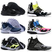 top labs großhandel-Gute ACRONYM x Lab High Presto Mid Outdoor-Schuhe für Männer Frauen Top-Artikel Rosa Blau Weiß Grün Akronym Prestos Trainer