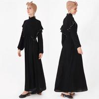 элегантная этническая одежда оптовых-Женская элегантная исламская одежда Хиджабы абаяс Этническая одежда из бисера Мусульманская женская одежда