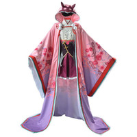 Wholesale anime kimono online - Fate Grand Order Osakabehime Cosplay Costume FGO Assassin Cosplay Kimono Dress